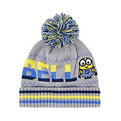 Despicable Me - Boys' grey 'Minion' beanie hat