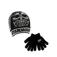 Star Wars - Boys' Darth Vader knitted hat and gloves set