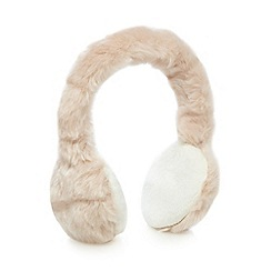 Baker by Ted Baker - Girl's pale pink faux fur earmuffs