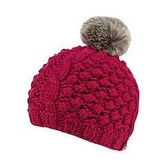 Baker by Ted Baker - Girls' pink bobble knit beanie hat