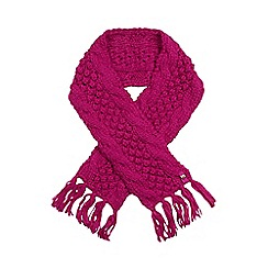 Baker by Ted Baker - Girls' pink bobble knit scarf
