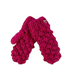 Baker by Ted Baker - Girls' pink bobble knit mittens