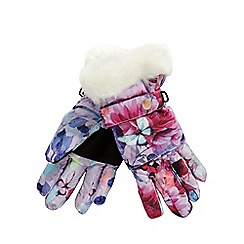 Baker by Ted Baker - Girls' pink floral gloves