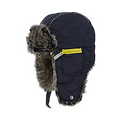 Baker by Ted Baker - Boys' navy quilted trapper hat