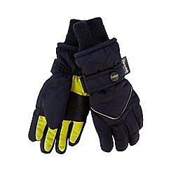 Baker by Ted Baker - Boys' navy fleece lined gloves