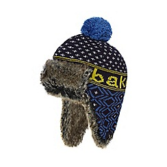 Baker by Ted Baker - Boys' navy fairisle faux fur trapper hat