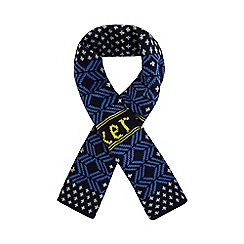 Baker by Ted Baker - Boy's navy fairisle knit scarf