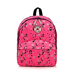 Converse - Girl's bright pink star backpack