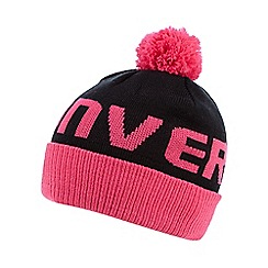 Converse - Girl's pink logo bobble hat