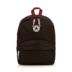 Converse - Boy's black contrast trim backpack