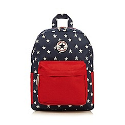 Converse - Boy's navy star print backpack