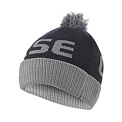 Converse - Boy's grey logo bobble hat