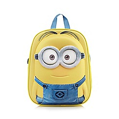 Despicable Me - Children's yellow 3D 'Minion' backpack