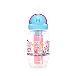 Peppa Pig - Girl's pink 'Peppa Pig' plastic water bottle