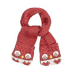 Mantaray - Girls' pink owl scarf