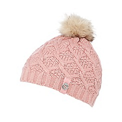 Mantaray - Girls' pink beanie hat