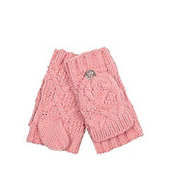 Mantaray - Girls' pink fingerless gloves