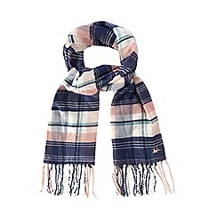Mantaray - Girls' pink checked scarf
