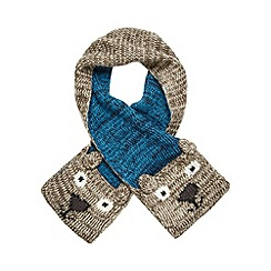 Mantaray - Boys' brown bear scarf with mittens