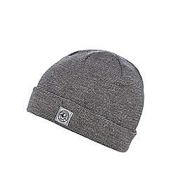 Mantaray - Boys' grey striped beanie hat