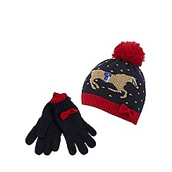 J by Jasper Conran - Two piece set navy hat and gloves set