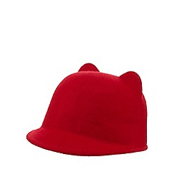 J by Jasper Conran - Girls' red wool cat ear hat