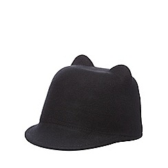 J by Jasper Conran - Girls' black cat wool riding hat