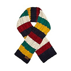 J by Jasper Conran - Boys' green multi striped scarf