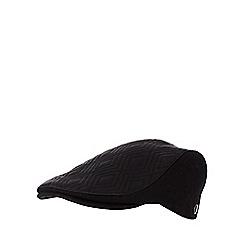 RJR.John Rocha - Black quilted flat cap