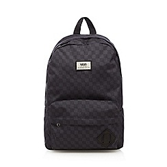 Vans - Boy's grey checkerboard backpack