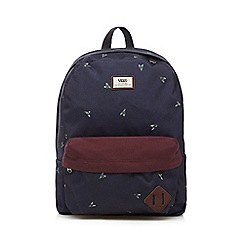 Vans - Boy's navy fly print backpack