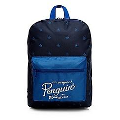 Original Penguin - Boys' navy penguin print backpack