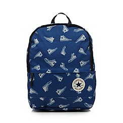 Converse - Blue converse print backpack