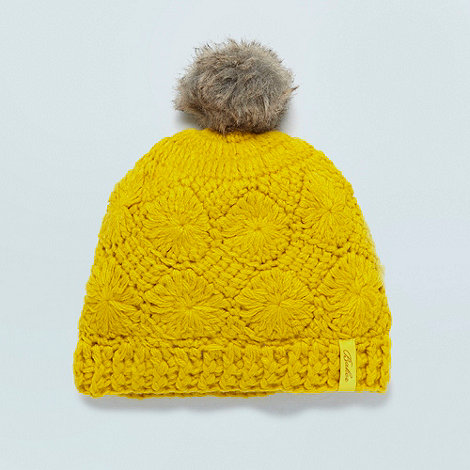 Baker by Ted Baker - Girl+s lime flower knitted beanie hat