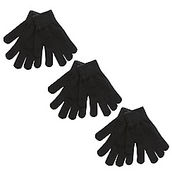 bluezoo - Pack of three children's plain magic gloves