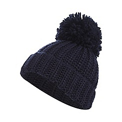 bluezoo - Bluezoo girl's navy pom beanie hat