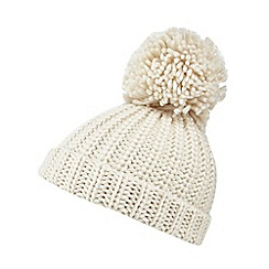 bluezoo - Bluezoo girl's cream pom beanie hat