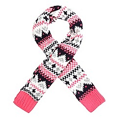 bluezoo - bluezoo Girls' pink Fairisle scarf