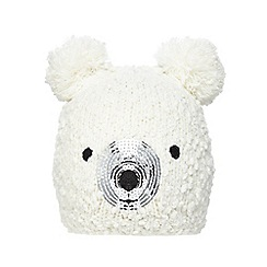 bluezoo - Children's cream polar bear beanie
