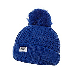 bluezoo - Boys' blue pom-pom beanie hat