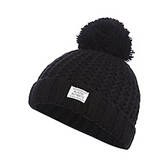 bluezoo - Black pom pom beanie hat