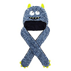 bluezoo - bluezoo Boys blue monster hat scarf