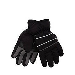 bluezoo - Boys' black 'Thinsulate' gloves