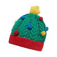 bluezoo - Green Christmas tree beanie hat
