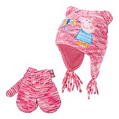 Peppa Pig - Girls' 'Peppa Pig' hat and mittens set
