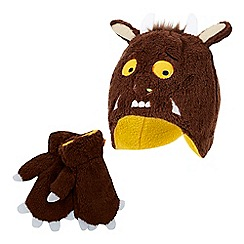The Gruffalo - Boys' brown 'Gruffalo' hat and mittens set