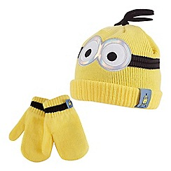 Despicable Me - Yellow 'Minions' hat and mittens set