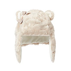 Baker by Ted Baker - Girls'  faux fur trapper hat with ears