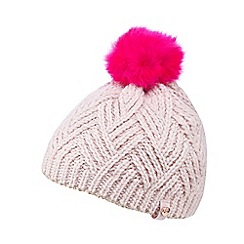 Baker by Ted Baker - Girl's pink metallic trim bobble hat
