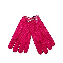 Baker by Ted Baker - Girls' pink knitted gloves